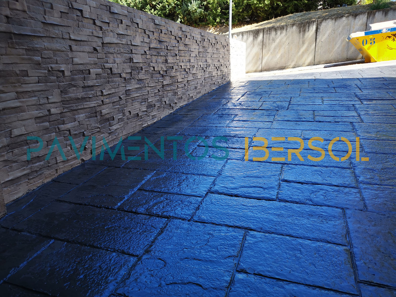 pavimento de hormigón impreso